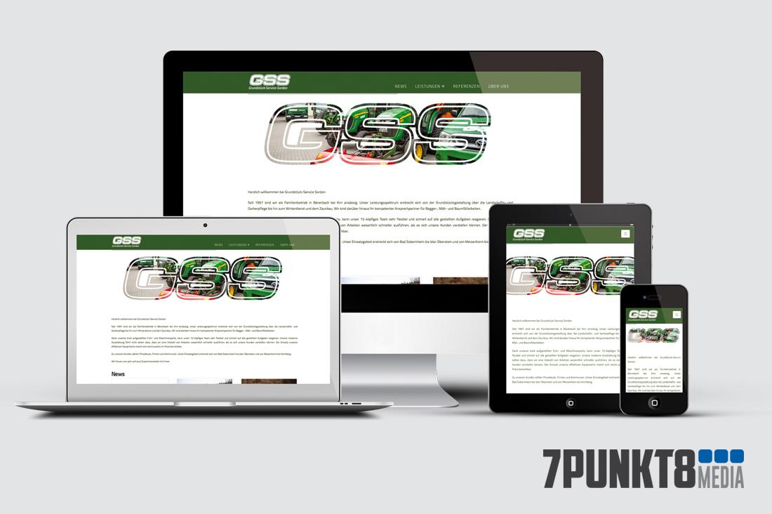 Webseitengestaltung für Grundstück-ServiceSordon
