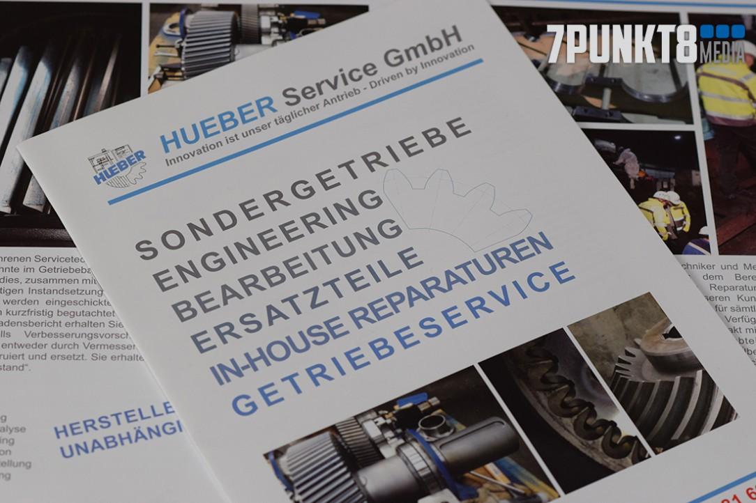 Flyergestaltung für die Hueber Service GmbH von 7PUNKT8 Media