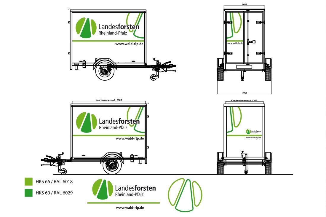 Landesforsten design von Mobil-Folierungen