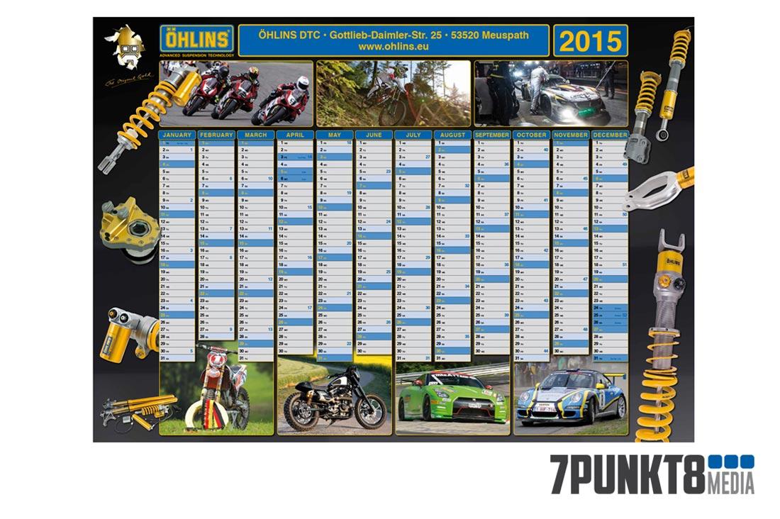 Öhlins AB Jahreskalender-Design