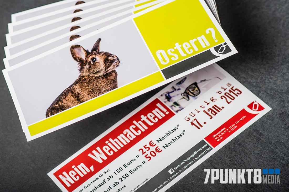 Augenoptik Franzmann Werbe-Flyer Weihnachtsaktion 2015