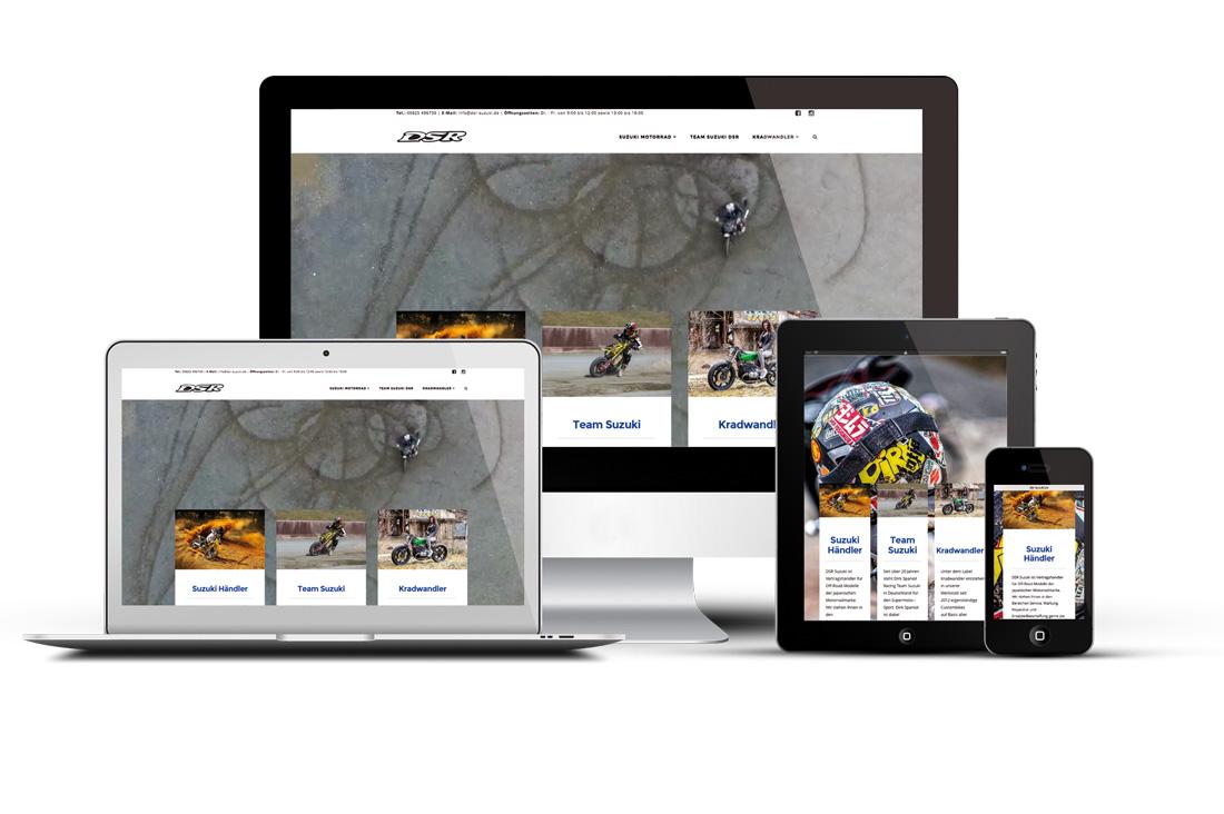 DSR-Suzuki mit Sitz in Hirzweiler, ist seit Ende letzten Jahres mit einer neuen Webseite im Netz vertreten