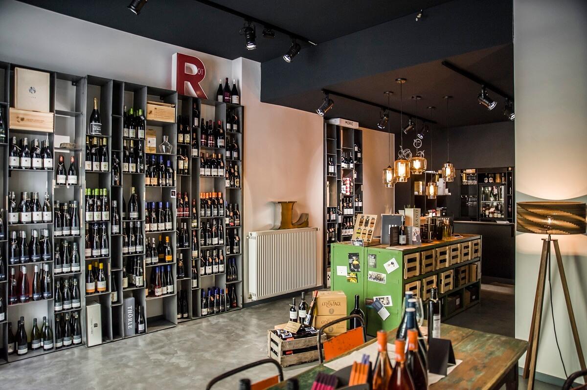 Beeindruckende Kulisse in der Weinhandlung Laurenz in Mainz.