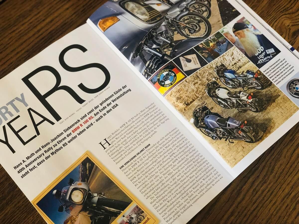 Sechs Seiten in der aktuellen BMW Motorräder sind mit Texten von uns gefüllt.