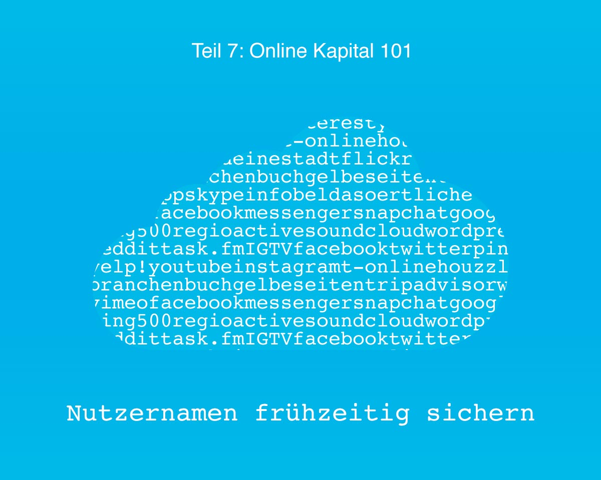 101 Online Kapital - Teil 07 Nutzernamen sichern