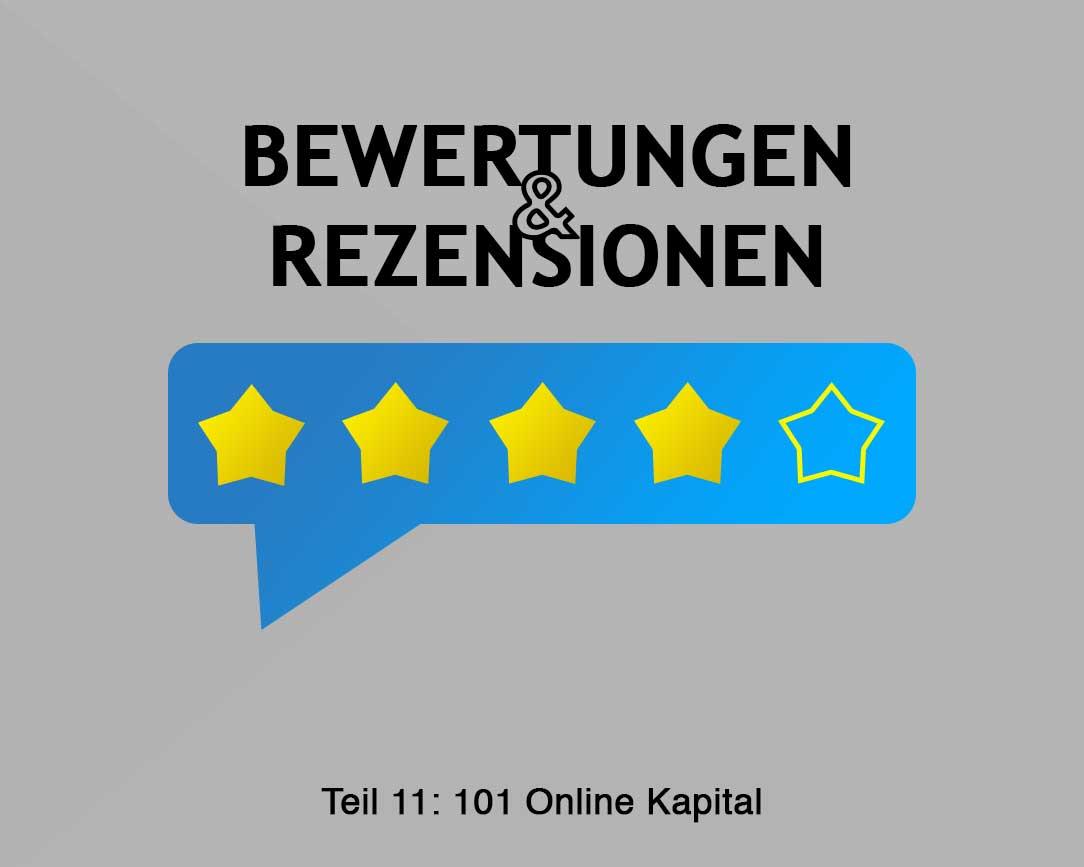 101 Online Kapital - Teil 11 Kommentare und Bewertungen